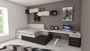 Decluttered room
